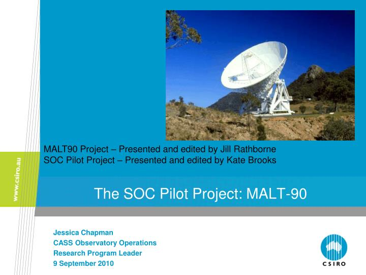 the soc pilot project malt 90 n.