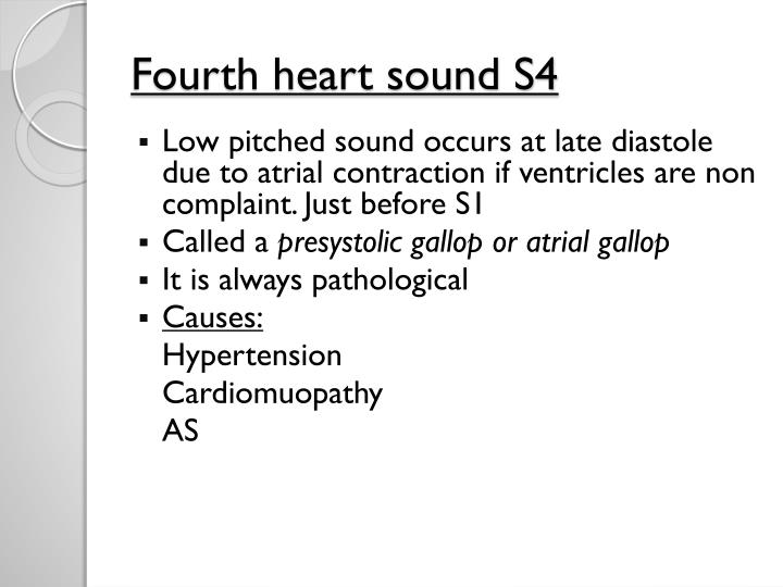 Fourth heart sound S4