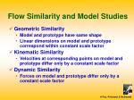 flow similarity and model studies