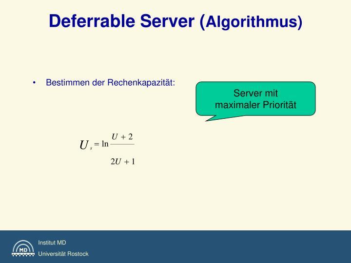Deferrable Server (