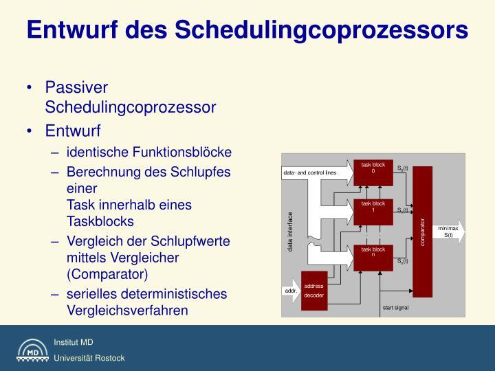 Entwurf des Schedulingcoprozessors