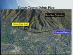 corner canyon debris flow