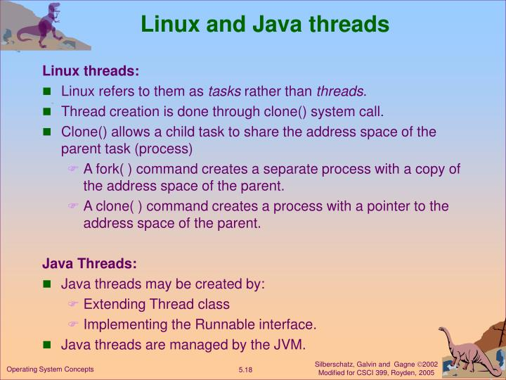 Linux and Java threads