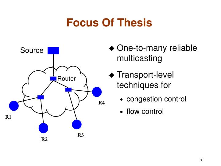 Focus of thesis