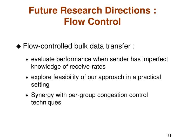 Future Research Directions :
