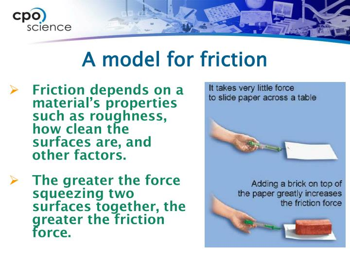 A model for friction