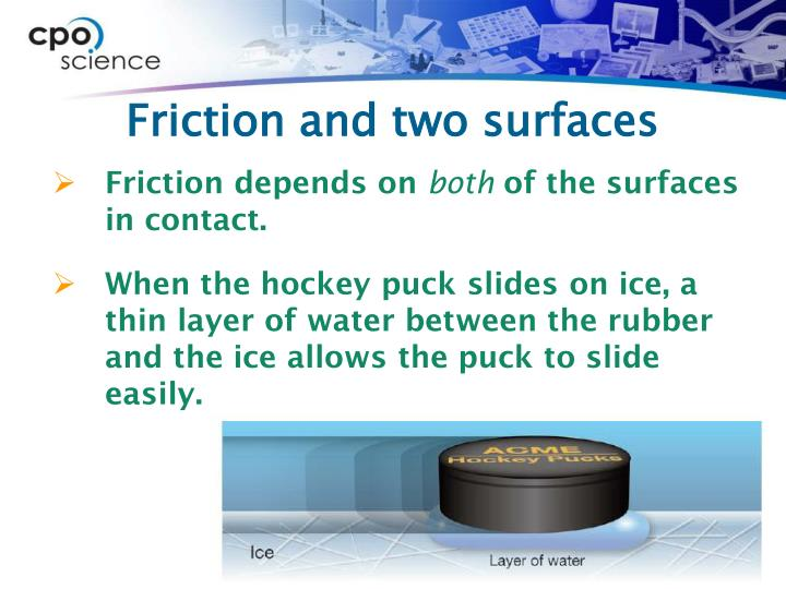 Friction and two surfaces