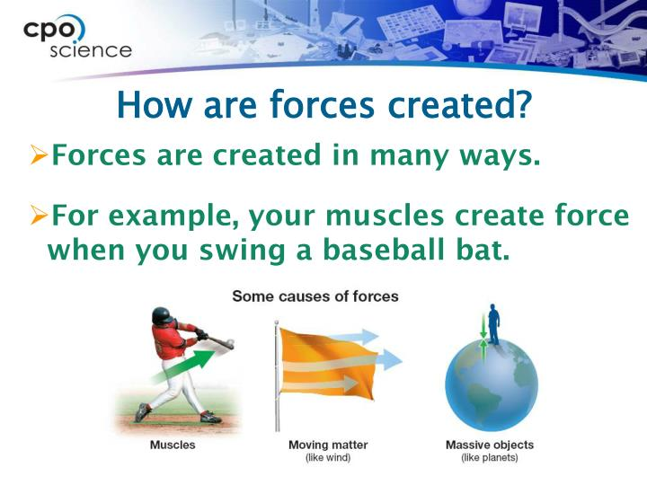 How are forces created?