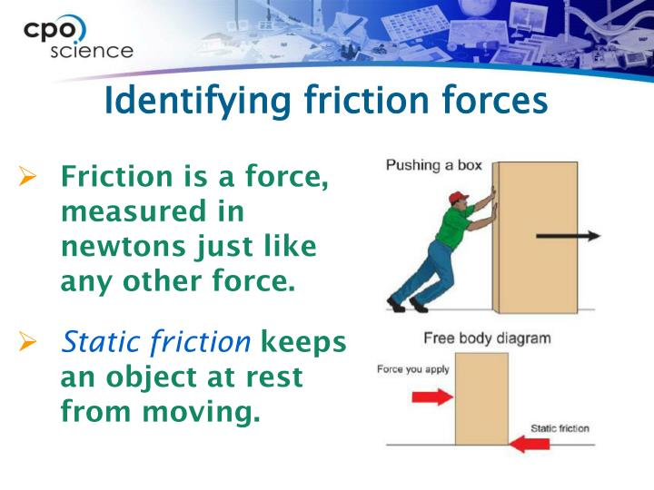 Identifying friction forces