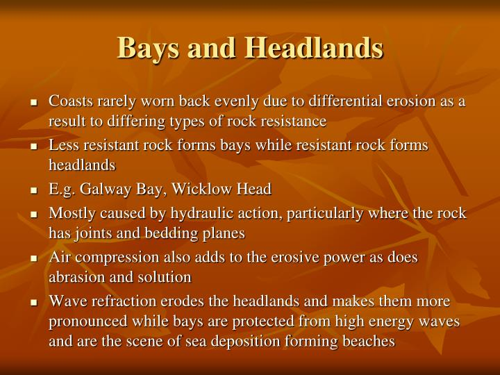 Bays and Headlands