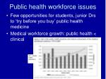 public health workforce issues