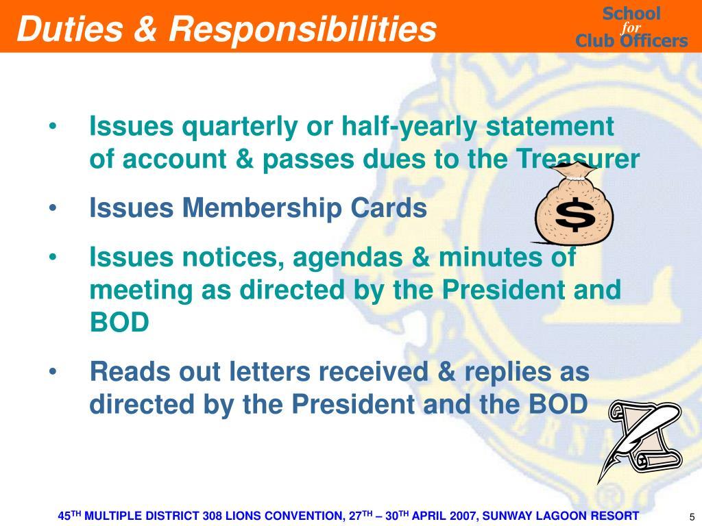 PPT - CLUB SECRETARY PowerPoint Presentation - ID:5746284