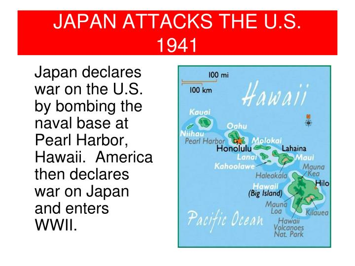 Japan attacks the u s 1941