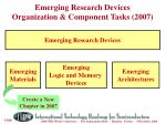 emerging research devices organization component tasks 2007