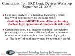 logic device conclusions