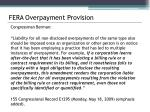 fera overpayment provision