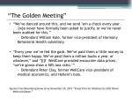 the golden meeting