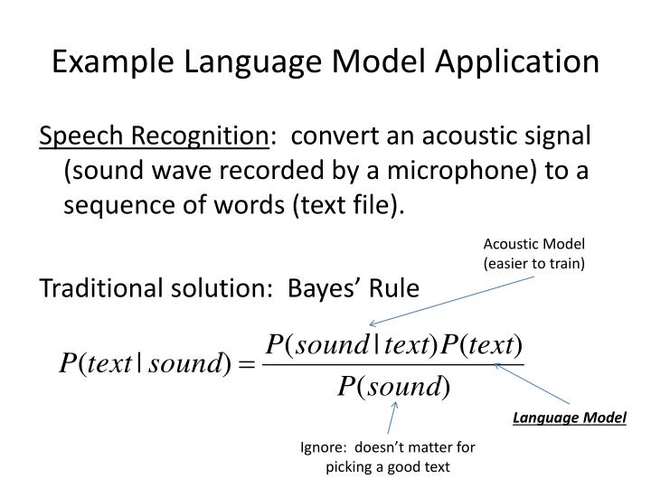 Example Language Model Application