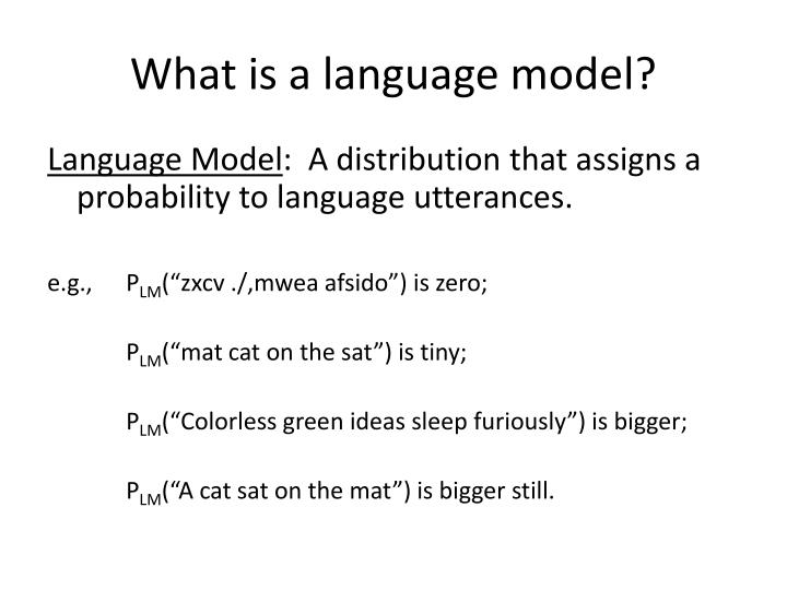 What is a language model?