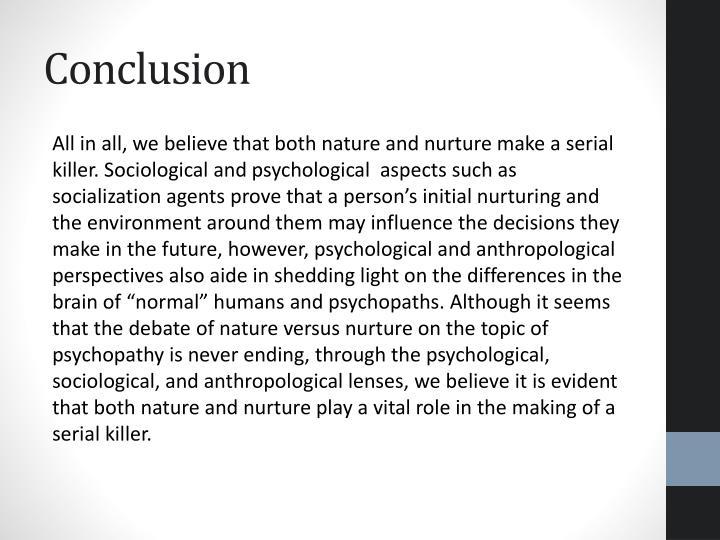 nurture vs nature serial killers