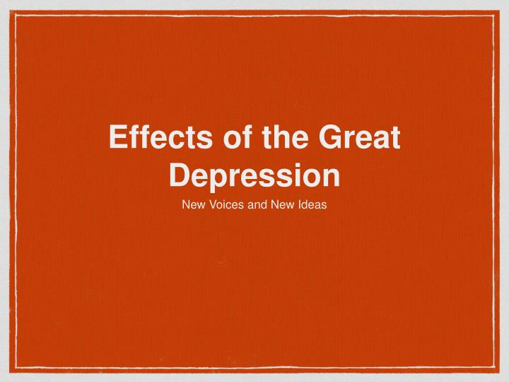 effects of the great depression Great depression and effect on britain the may committee which was headed by sir george may, reported to the labour cabinet with its suggestions to end the crisis the prime minister asked for spending cuts but the government could hot agree on them.