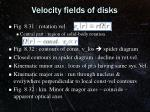 velocity fields of disks1