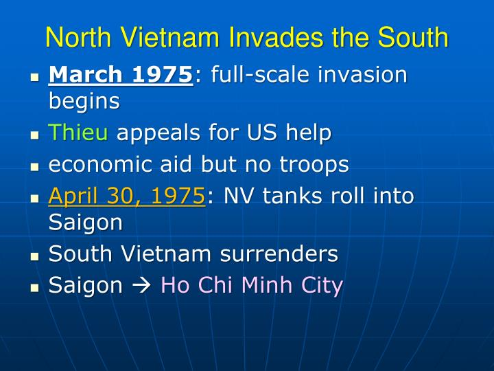 North Vietnam Invades the South