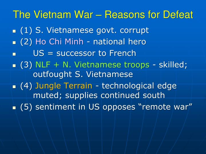 The Vietnam War – Reasons for Defeat