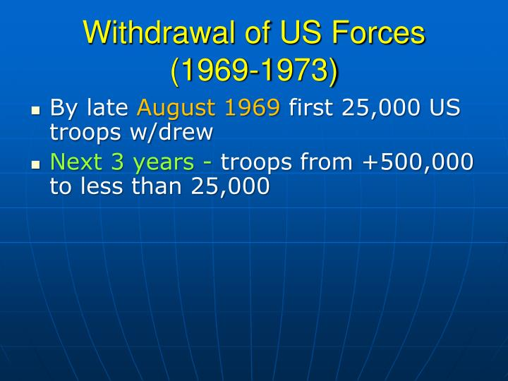Withdrawal of US Forces