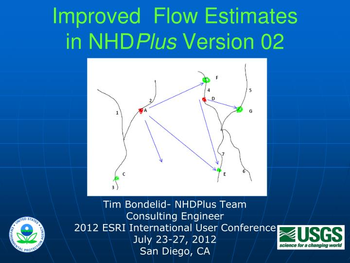 improved flow estimates in nhd plus version 02 n.