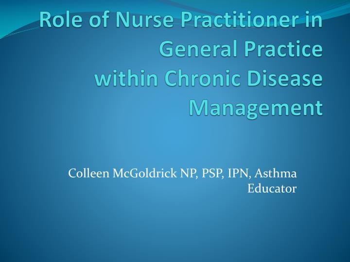PPT - Role of Nurse Practitioner in General Practice ...
