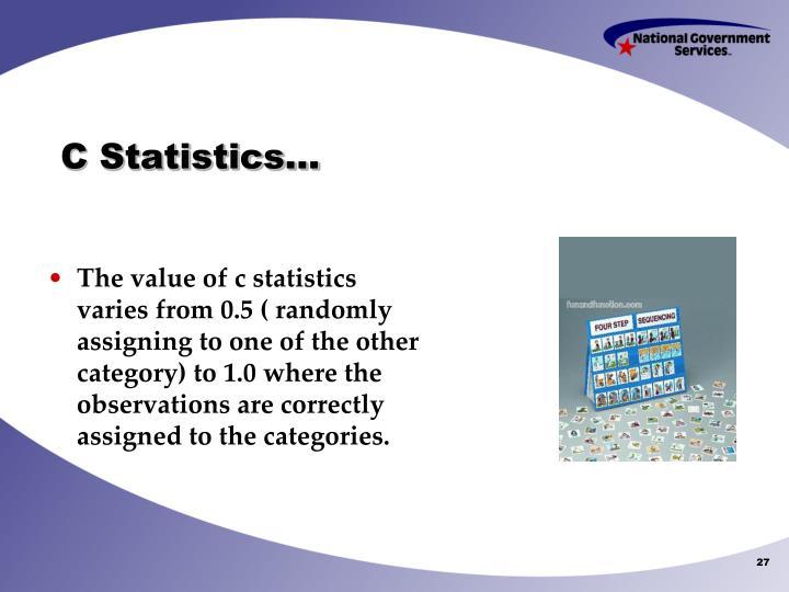 C Statistics…