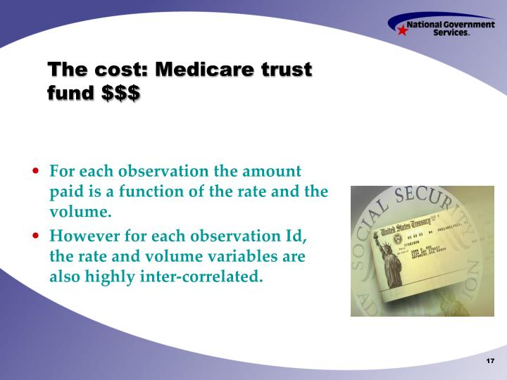 The cost: Medicare trust fund $$$