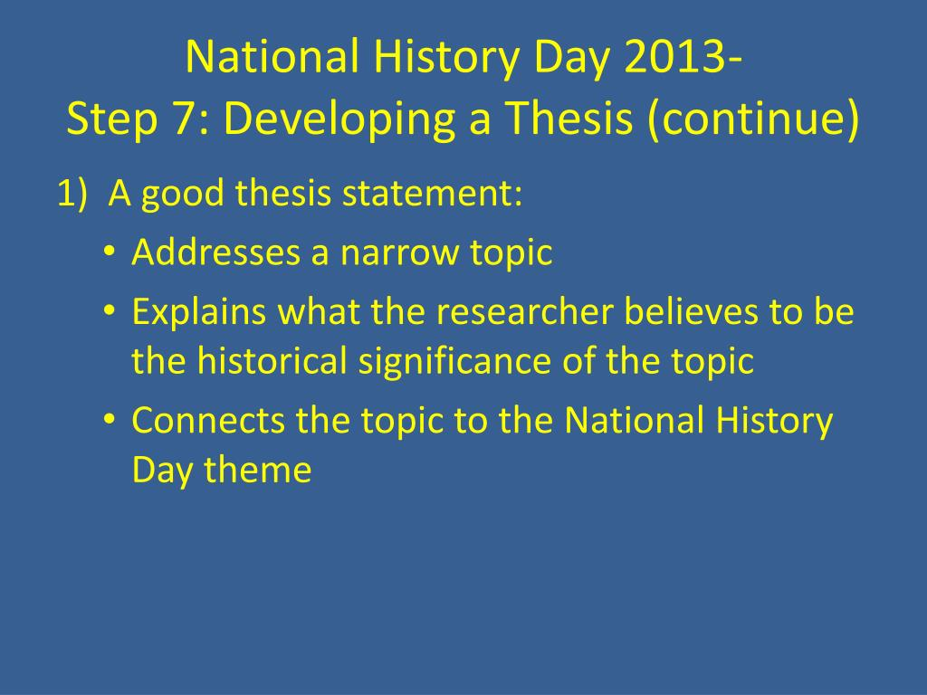 PPT - National History Day 2013- Rights And Responsibilities PowerPoint  Presentation - ID:5747222