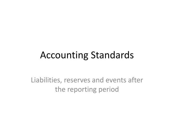 accounting standards n.
