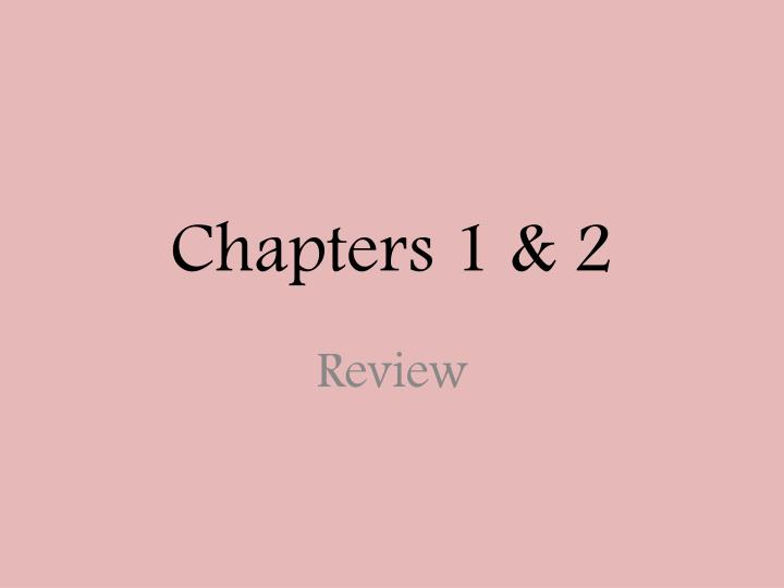 chapters 1 2 n.