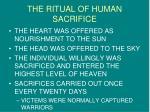 the ritual of human sacrifice