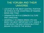 the yoruba and their universe