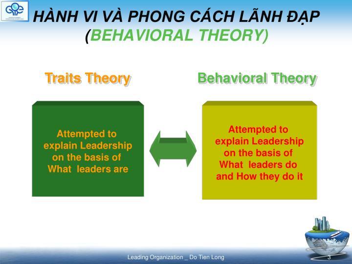 H nh vi v phong c ch l nh p behavioral theory