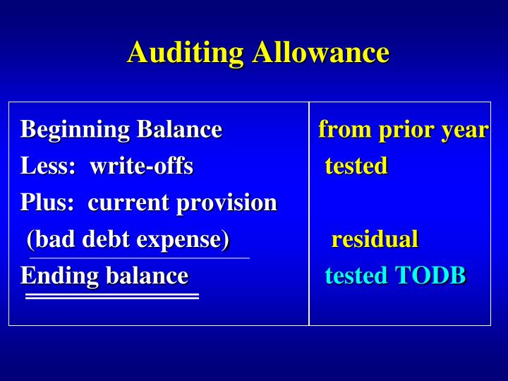 Auditing Allowance