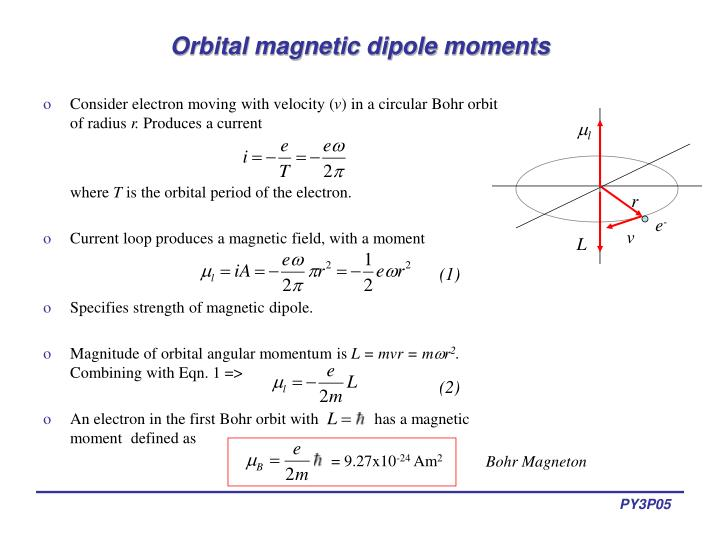 ppt lectures 5 6 magnetic dipole moments powerpoint. Black Bedroom Furniture Sets. Home Design Ideas