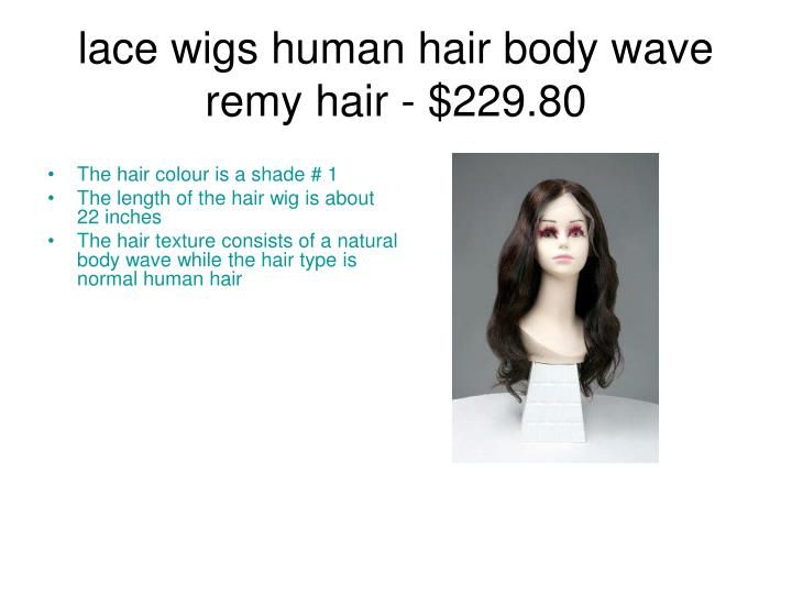 Lace wigs human hair body wave remy hair 229 80