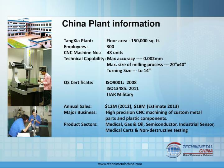 China plant information