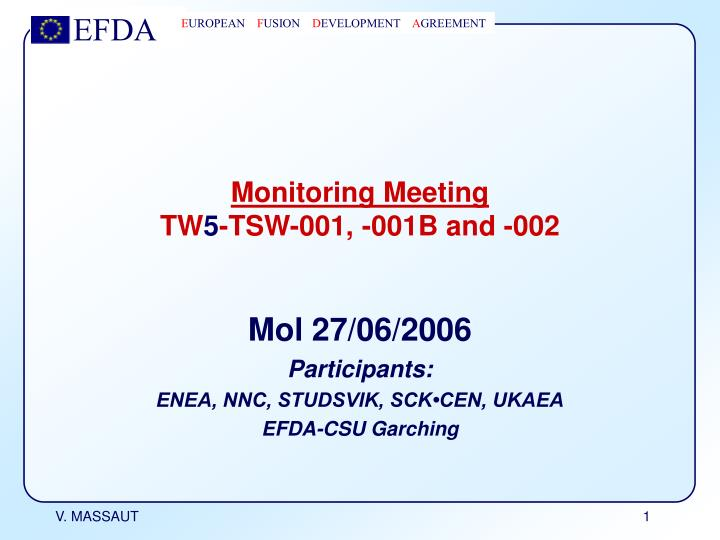 monitoring meeting tw 5 tsw 001 001b and 002 n.