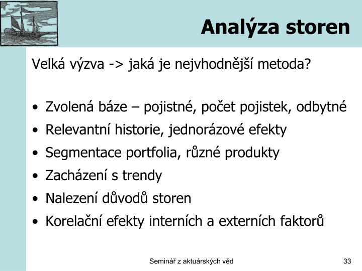 Analýza storen