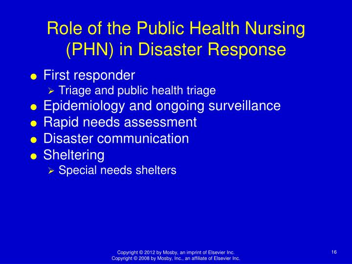 the role of nurses in responding to disasters essay Ingale demonstrated to the world the important role that nurses play on the front lines of responding to disasters, the field of public health and disaster nursing has contin.