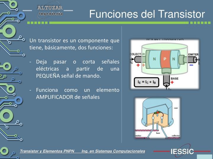 Funciones del transistor