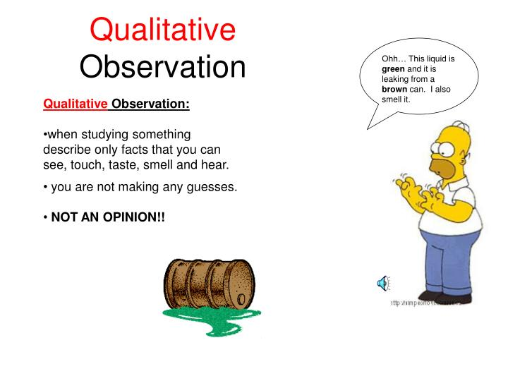 PPT - Observation vs. Inference PowerPoint Presentation ... Qualitative Observations