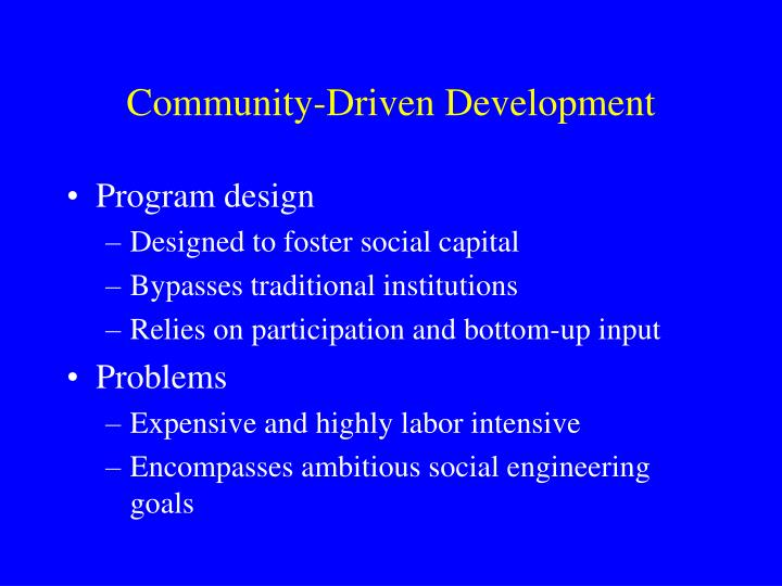 Community-Driven Development