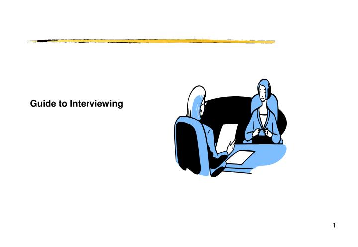 guide to interviewing n.